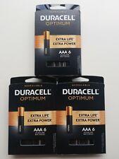 Lot of (3) Duracell Optimum AAA Alkaline Battery (6-Pack/EA), 18 Total Batteries