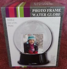 "Photo Frame Water Globe Holds 2"" X 3"" Photo"