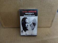 MALCOM X GRANDMASTER FLASH THE REAL MESSAGE FACTORY SEALED CASSETTE MAXI SINGLE