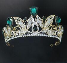 Retro Baroque Princess Rhinestone Bridal Crown Tiara Headdress Bride Hair Decor