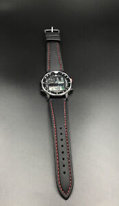 Awesome Vintage Citizen Windsurfer D060 42-8035 Watch Black Case Clean Working