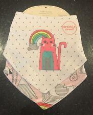 Next Baby Girl Gorgeous Cat & Rainbow 🌈 Dribble Proof Bibs - BNWT