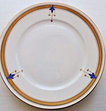 Art Nouveau Jugendstil Dinner Plates Gold Blue Set of 5 1900's Royal Bayreuth