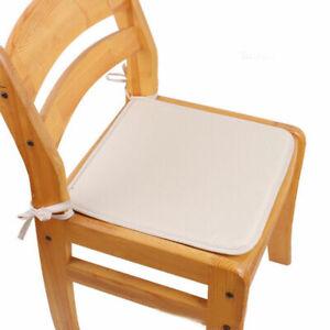 New Plain Chair Cushion Seat Pads Tie Garden Bench Dining Kitchen Square Round