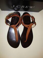 Sandals  J.CREW TABBIE T Strap Leather Sandals ADOBE BROWN  Size 10