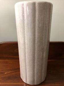 """Gump's San Francisco 12.25"""" Cylinder Vase - Vintage"""