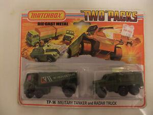 Matchbox Lesney TP-14 Tanker & Radar Truck new in Blister Pack 1975