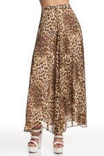 Designer Naven Circle Maxi Skirt Leopard Long Lined NEW Women Sheer Chiffon