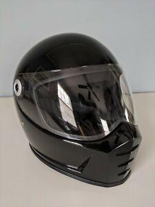 Biltwell Lane Splitter Full Face Motorcycle Helmet Gloss Black - Size Small