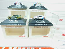 AV155-0,5# 4x Herpa H0 Voitures de sport automobile BMW: 3531+3532+3533+3534, W+
