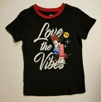 DISNEY MINNIE MOUSE T Shirt Girls Black Red Ringer Collar XS S M NEW SHIPS FAST