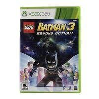 LEGO Batman 3: Beyond Gotham (Microsoft Xbox 360, 2014) Complete w/Manual CIB