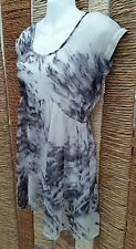 MISS SELFRIDGE Ladies Sheer Grey Sleeveless Lace Back Blouse Top Size 4