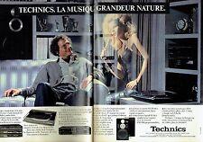 PUBLICITE ADVERTISING 0217  1981  Technics (2p) platine enceintes tuner