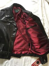 SCHOTT NYC PER_22  BLACK MOTO -PERFECTO MADE IN U.S.A.STEERHIDE LEATHERS SZ MED
