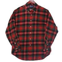Ralph Lauren Men's Red Plaid Flannel Button Down Shirt - Size Medium