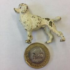 Miniature Cold Painted Bronze Figure Of A White Poodle Probably Austrian