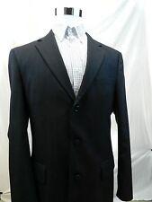 Jos A Banks Black 3 Button 100% Wool Pinstripe Blazer Sports Coat Mens 42 Long