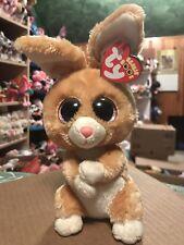 "Ty CARROTS -Tan/Pink MWMTs Easter Rabbit 6"" Beanie Boo! *Retired* RARE & VHTF!!"