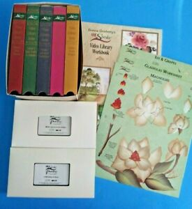 Donna Dewberry Video Library Lot Workbook VHS Teaching Guides Clay Pots Florals