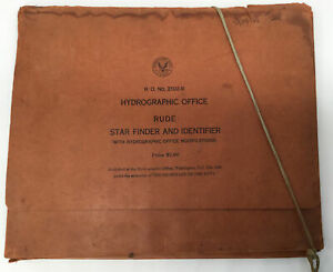 Rare Hydrographic Office Rude Star Finder And Identifier. Navy 1940 Astronomy