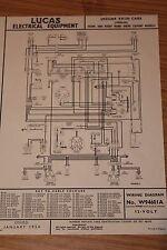Jaguar XK120 Home & RHD Export Models Lucas Electrical Wiring Diagram 1950 -54