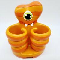 Pencil Holder Desk Top Monster Orange Striped One Eye Octopus (#C)