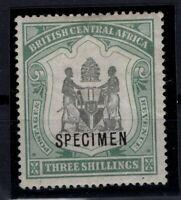 P133389/ BRITISH CENTRAL AFRICA – SG # 49 MINT MH SPECIMEN – CV 140 $