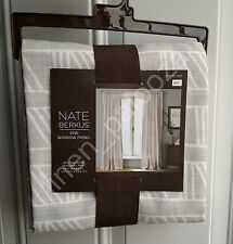 NEW Nate Berkus Ivory DIAGONAL PRINT SHEER Window Curtain 54x84