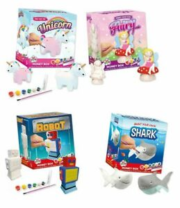Paint Your Own Piggy Banks Ceramic DIY Novelty Money Box Saving Kids Craft Gift