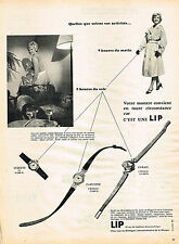 PUBLICITE ADVERTISING 094  1958  LIP   collection montres