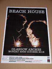 BEACH HOUSE - rare UK live music show tour concert / gig poster - oct 2012