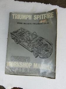 Triumph Spitfire Mk 1, 2, 3 1147cc, 1296cc Workshop Manual