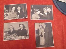 4 Anciennes  photos  en noir et blanc  cérémonie  12.5 / 17.5 cm
