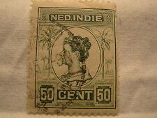 Netherlands Indies Stamp 1912 Scott 131 A13  Green 50 Cent