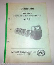 Ersatzteilliste Bayerische Pflugfabrik Dreipunkt Anbau Sternrad Rechwender Alba