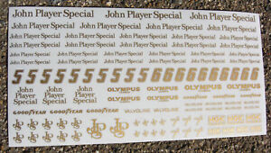 SLOT CAR 1/32nd scale 'JPS' stickers decals fits SCALEXTRIC