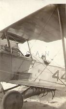Pre WWII Small RP- Airplane- US Army or Navy Biplane- Pilot- Number 44- 20s-30s