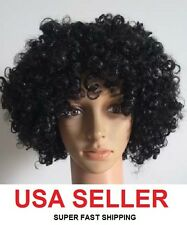 CHILDREN'S kids BLACK boys girls TIGHT curly AFRO wig CHILD 60s retro DISCO hair