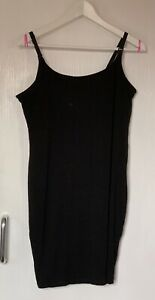 H&M Mama Black Breast Feeding Maternity Short Dress/ Longline Top  Size Large