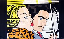 art painting vintage Roy Lichtenstein style andy baker Australia canvas