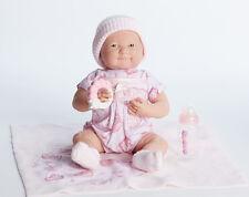"JC Toys La Newborn 15.5"" Berenguer Baby Girl Gift Set Doll Pacifier 18781"