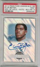 Elvin Bethea 2012 Press Pass Legends HOF Holo Blue #/10 Autograph AUTO PSA 9