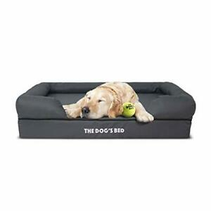 The Dog's Bed, Premium Orthopaedic Memory Foam Waterproof Dog Bed, Grey with