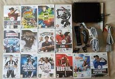 BIG BUNDLE Nintendo Wii Black Console + 14 Games + Remote + Nunchuck Mario Tiger