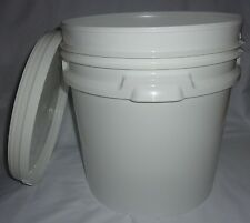 EMPTY BUCKET WITH HANDLE & LID - WHITE - 20LT - EACH