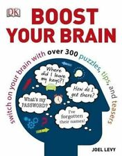 Boost Your Brain by Joel Levy (Paperback, 2014) PUZZLE BOOK TIPS AND TEASERS