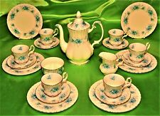 RARO SERVIZIO CAFFE' 21P PORCELLANA ROYAL ALBERT WINDSOR ROSE ENGLAND (365)