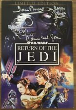 Star Wars James Earl Jones, Prowse and Daniels Signed DVD Booklet COA.