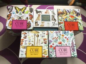 BUNDLE / JOB LOT X  5 CUBE JIGSAWS 100 PIECES COMPLETED ONCE GREAT FUN GIFTS